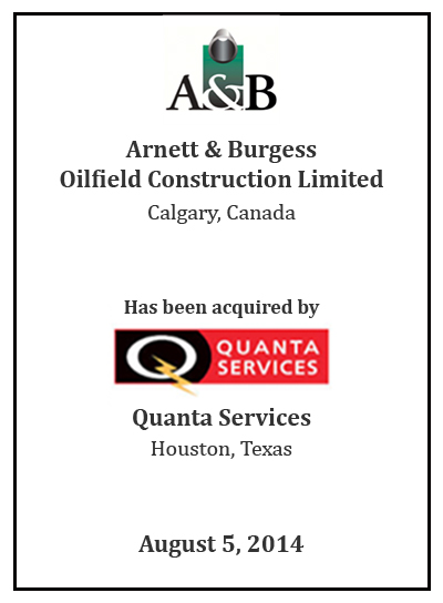 A&b acquired by Quanta Services