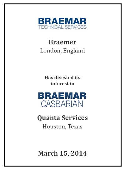 Braemar Technical Services has interest in Braemar Casbarian