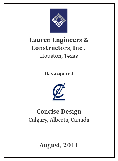 Lauren Engineers has Acquired Concise Design