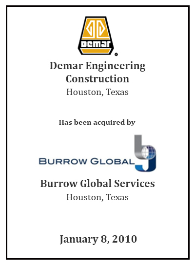Demar Engineering Construction has been acquired by Burrow Global